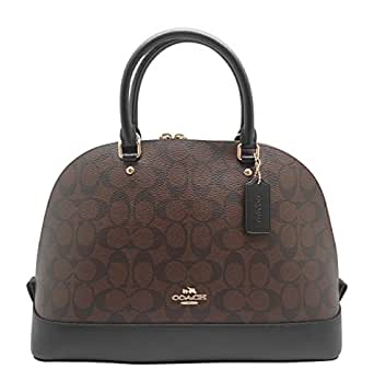 Coach Women's Signature Sierra Satchel Crossbody Handbag Brown/Black