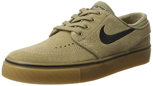 Nike Zoom Stefan Janoski, Scarpe da Skateboard Uomo Verde (Khaki/black-gum Light Brown)