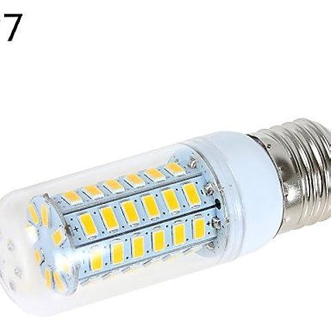 YangR* 1 pcs/G9 E14/E26/E27 de 12 W 56 SMD 5730 1200 LM/blanco cálido, blanco frío bombillas de maíz B CA 220-240/110-130 V CA , Cool white-no