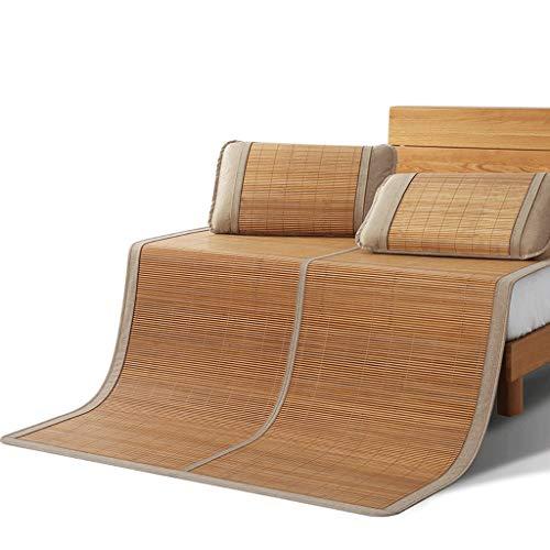DUAN GUO FENG DGF Bambusmatte Double Folding Student Dormitory Einzelbett Kissen ohne Haken Dorn kühl und komfortabel (größe : 0.9m×1.95m)