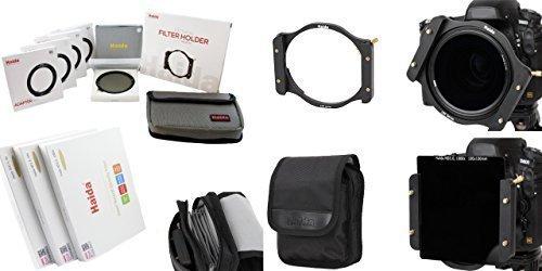 Haida Optical Serie 100 Starterset II - Vollmetall Filterhalter mit Anschlussringen in Größe 67mm, 72mm, 77mm, 82mm - Slim Pro II MC Spezial Polarisationsfilter, sowie 3 verschiedene Optical Graufilter 100 mm x 100 mm ND0.9 (8x) / ND1.8 (64x) / ND3.0 (1000x) - Inkl. Haida Filtertasche -
