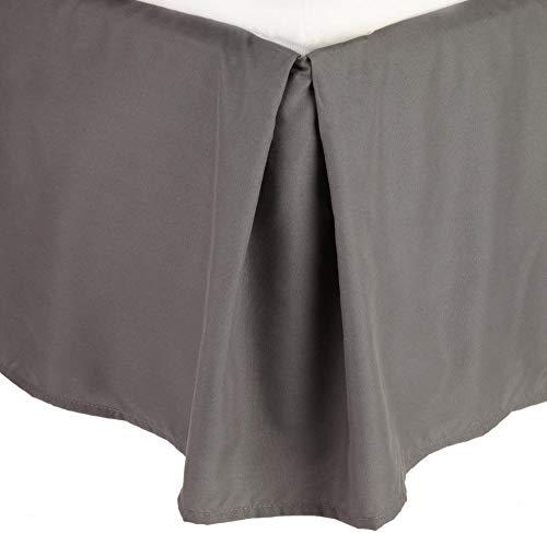 Celine Leinen® 1500Fadenzahl knitterfrei Ägyptische Qualität massiv Bett Rock-plissiert Tailored 35,6cm Drop, Baumwolle, grau, Volle Größe -
