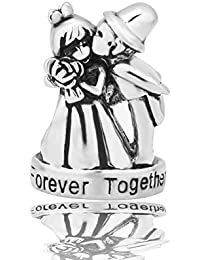 Sug Jasmin Bride & Groom Wedding Charms For Couples Forever Together Beads Fit European Bracelets qh7vPgqwE