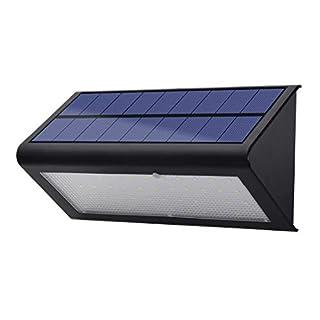 LED Solar Solarleuchten, Solarlampen für außen mit 120 Grad-Weitwinkel bewegungs sensor, Energiesparende IP65 Wasserdichte 4 Modi Sicherheitsbeleuchtung, Outdoor Wandleuchte für Garten, Hof, chwarz