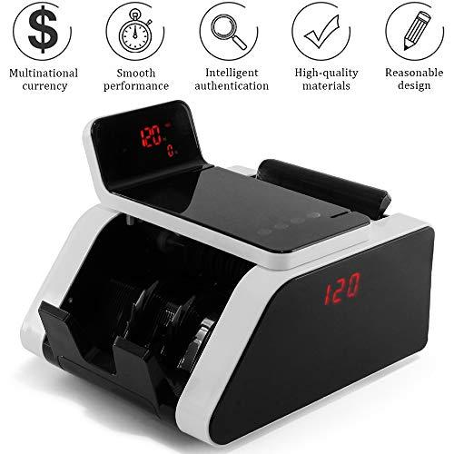 Banknotenzähler Und Falschgeld-Detektor - Zählt 900 Banknoten Pro Minute Mit Touchscreen Für Bankgeschäfte (UV/MG)