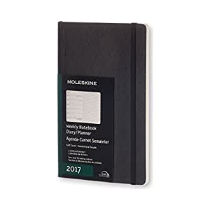 Moleskine Wochen Notizkalender, Taschenkalender, 12 Monate 2017 Groß, A5, Soft Cover, schwarz