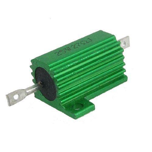 Preisvergleich Produktbild sourcingmap® Gehäuse Montiert Grün Aluminium Verkleidet Drahtwiderstand Resistoren 25W 27 Ohm 5%