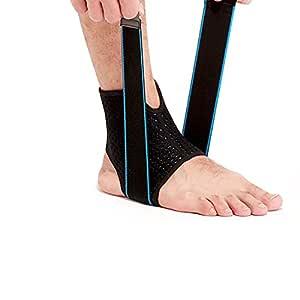 GSOTOA [1 Paio Cavigliera Sportiva Elastica Fascia Caviglia Regolabile Tutore Piede Unisex