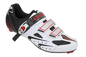 Exustar 71038 Cycle Racing Shoes - White, 9