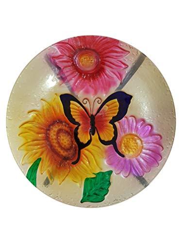 Fountasia Glas-Schmetterlinge Vogeltränke Garten Dekoration