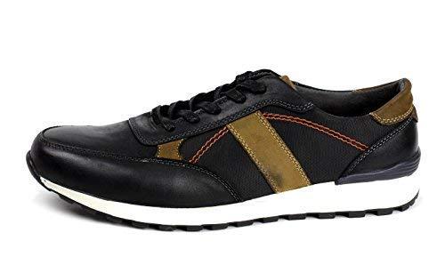 Hommes Décontracté Lacet chaussures cuir confort Italien baskets