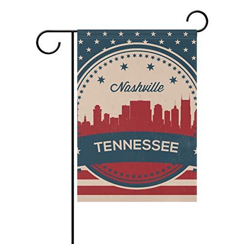 ee State Nashville Vintage amerikanische Flagge 30,5 x 45,7 cm Banner doppelseitig für Rasen Hof, Außendekoration, Polyester, Image 938, 28x40(in) ()