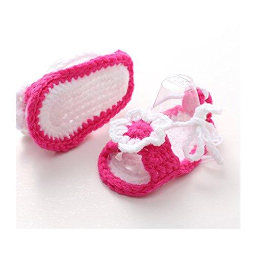 Ouneed® 0-1 ans Bebe Chaussures Premier Pas en tricot de laine 10 * 6,5 cm (B) A