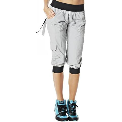 Zumba Fitness Hose Ultimate Orbit Cargo Capri - Mono de esquí para mujer, color gris, talla M