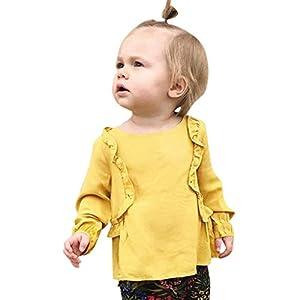 K-Youth Ropa Bebe Niña Invierno Cordones de Volantes Camiseta Manga Larga Bebe Niños 6 Mes a 4 año Blusa Bebe Ropa Recien Nacido Niño Otoño Chandal Niñas Tops Bebes Primavera 13