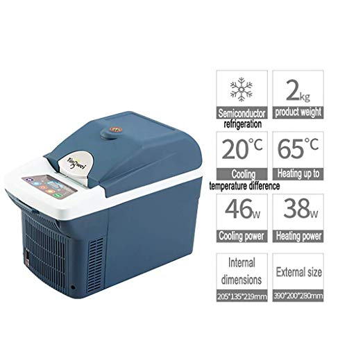 Tragbarer 6L-Kühlschrank fürs Auto - Kompakter Minikühlschrank mit Kühl- / Wärmepumpe für Autos/Reisen/Medikamente Kleiner Kühlschrank (einfach mit Bildschirmanzeige zu bedienen) Nur für Aut -