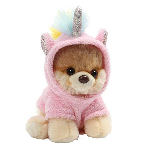 "Gund World's Cutest Dog Itty Bitty Boo #44 Unicorn Plush, 5"" Toy, Pink"