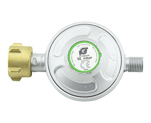 myowntrade Gas Druckregler 50 mbar Manometer Propan Butan Druckminderer Gasregler Grill