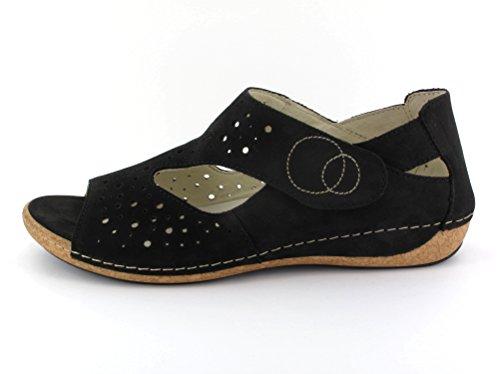 Waldläufer342007 191 001 Heliett - Sandaletto Donna Nero (nero)