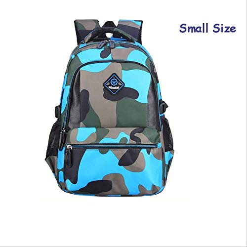 Kinder-sky Blue Camouflage (QYYDSB Camouflage Jungen Schultaschen Grundschule Rucksack Kinder Rucksäcke Für Schulkinder Schultasche Mädchen BookbagSmall Sky Blue)