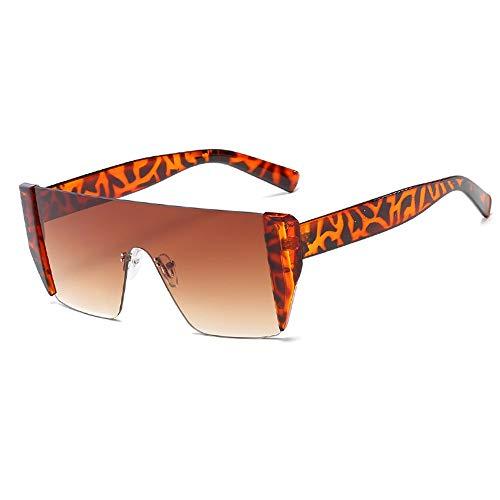 Sonnenbrillen der Frauen Mode dunkle Linse Retro-UV-Schutz Big Box Driving Angeln Golf Goggles Brille (Farbe : NO.5, Größe : Free Size)