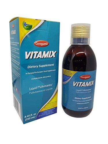Vitaminreicher Ceregumil für Männer , Mineralien Ergänzung reich an Vitamin D3, Vitamin B12 unter anderem. PLUS Selen Vitaminergänzung mit tolem Geschmack in einer 250Ml Flashe zur Stärkung Ihres Immunsystems.