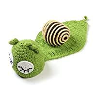 8Eninine Infant Baby Costume Newborn Animal Jumpsuits Suits Baby Snail Photography Prop Green