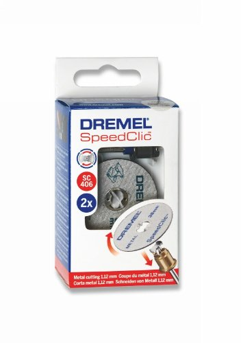 DREMEL SC406   Set Inicial (2 Discos para metal + Mandril) Ø 38,0 mm