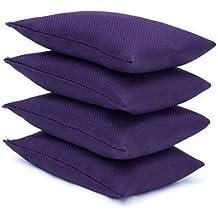Purple Water Resistant Fabric Garden Game Sports PE Sensory Juggling Bean Bags 4 Pack