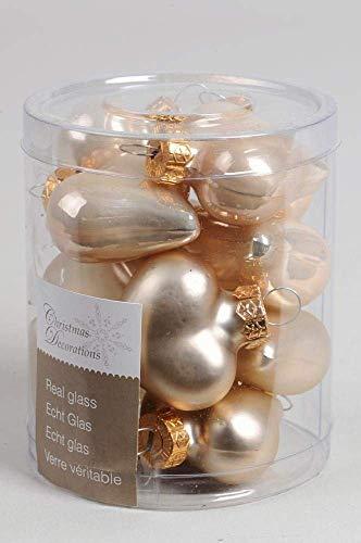 12 Herzen Weihnachtskugeln Christbaumkugeln Baumkugeln in herzform Durchmesser 40mm perle matt und glänzend