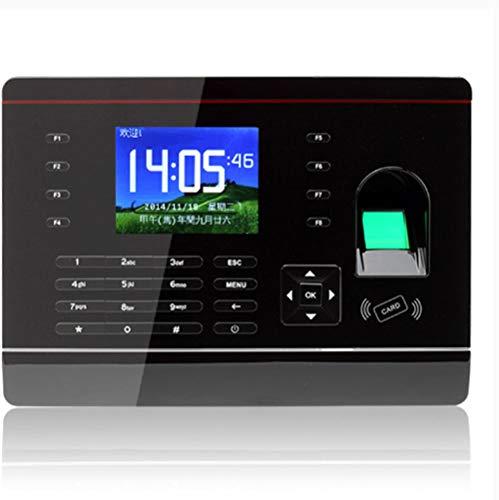 ZHFF Intelligente biometrische Fingerabdruck-Passwort-Anwesenheits-Maschine, Stechuhr Mitarbeiter prüfen in Stechuhr 2,8-Zoll-TFT-LCD-Bildschirm