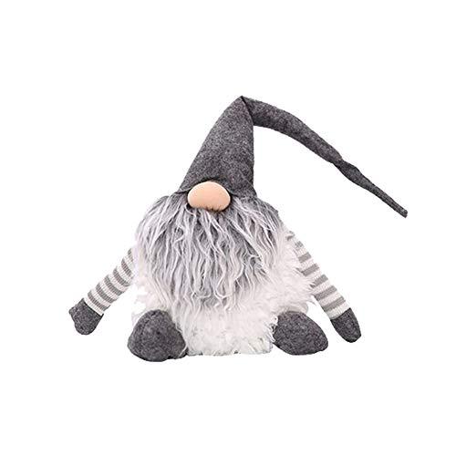 FADDR Puppe Santa Plüschtier Weihnachtsdekoration Ornament, Elf Elfen Geschenke Ferienhaus Tischdekoration