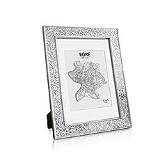 Idea Regalo - Glamour by Casa Chic A4 Cornice Mosaico - Argento - Stile Moderno - Passepartout per Foto 20 x 15 cm Incluso – Larghezza della cornice 4 cm!