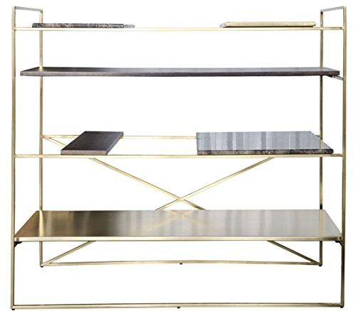 Casa-Padrino Mueble de Sala de Estar de Lujo Dorado 110 x 45 x H. 100,5 cm - Armario de diseño