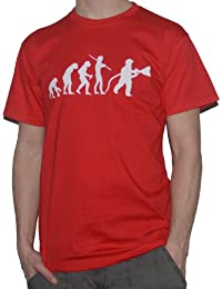 Evolution of Fireman - T-Shirt - Ape to Man - Funny Firefighter Top Fire by My Cup Of Tee