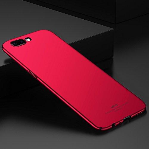 Coque OnePlus 5, MSVII® Très Mince Coque Etui Housse Case et Protecteur écran Pour OnePlus 5 - Bleu JY00305 Rouge