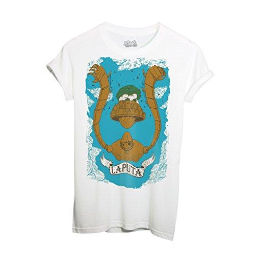 T-Shirt LAPUTA CASTELLO NEL CIELO MIAZAKY STUDIO GHIBLI - CARTOON by iMage Dress Your Style - Donna-L-BIANCA