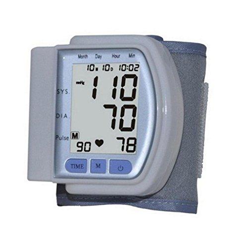 LIU Misuratore Di Pressione Da Braccio LCD Digitali Intelligenti Misuratore Di Pressione Sanguigna Certificazione CE Tipo Di Polso Sphygmomanometer Rivelatori
