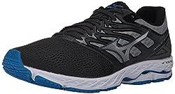 Mizuno Men's Wave Shadow Iron Gate Silver Running Shoe 12 Men Us