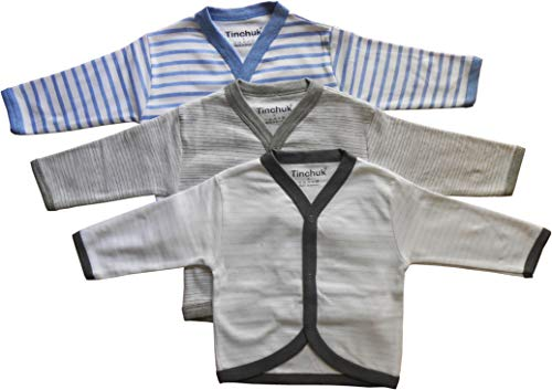 NammaBaby Baby Boy's and Baby Girl's Cotton Front Open Full Sleeves Vest/T-shirt (9-12 Months)