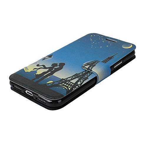 Custodia Moda Per iPhone X, Asnlove PU Pelle Caso Funzione Portafoglio Cover Motif di Colore Cassa Flip Libro Case Bumper Antiurto Protezione Completa Shell Per iPhone X - Colore 1 Colore 6