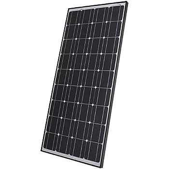 Biard 100W 12V Black Monocrystalline Solar PV Panel - MCS Approved - Ideal For 12 or 24 Volt Battery Charger Charging - Caravan, Boat, Home, Camping or Shed