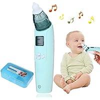 Baby Nasensauger, Luerme Electric Nasensauger Safe Hygienische Nase Reiniger mit LCD Bildschirm, Musik, bunten Licht und 3 Ebenen Saug für Neugeborene und Kleinkinder