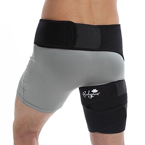 Bodyprox Groin Wrap, Support Réglable Pour La Douleur De La Hanche, De L'Anse, De L'Ischio-Jambiers, De La Cuisse Et Du Nerf Sciatique