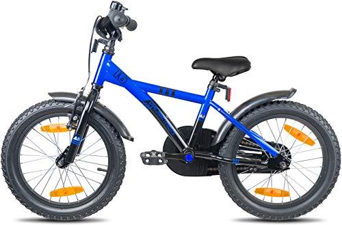 Prometheus Bicicletta per Bambini e Bambine da 5 Anni nei Colori Blu e Nero da 16 Pollici con rotelle e contropedale – BMX da 16″ Modello 2019 - 6