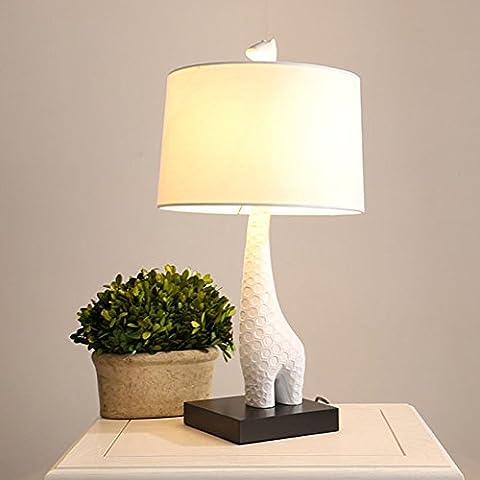 SRRIT Modern Cute Giraffe Table Lamp Bedside Desk Light Home