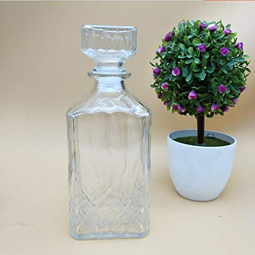 KT Whiskey Carafe, Wine Gift Crystal Glass Lead Free Clear Whisky Beer Brandy Kristallglas Clear Crystal Brandy