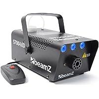 beamZ S700LED Máquina de humo con iluminación LED (700W potencia, 3x1W LED efecto hielo, incluye mando a distancia con cable, 75m³ por minuto, rápido precalentamiento, niebla fiesta disco)