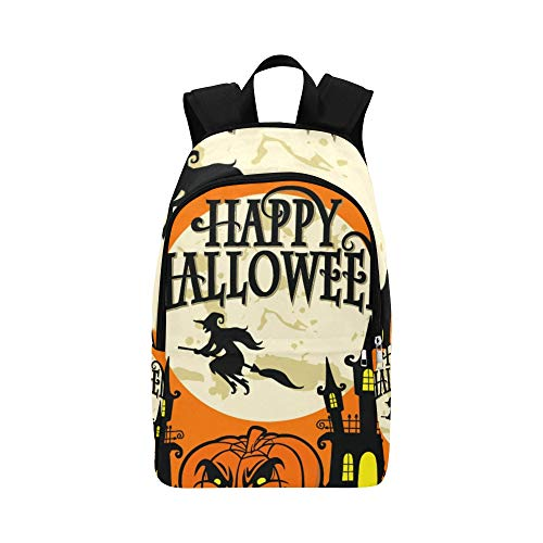 Happy Halloween Casual Daypack Reisetasche College School Rucksack für Männer und Frauen