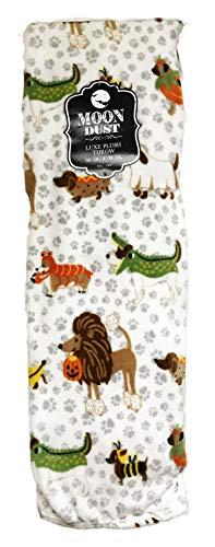Moon Staub Cute Festive Hunde in Kostüm Happy Halloween Themed Weichem Dekorative Luxe Plüsch Überwurf Decke